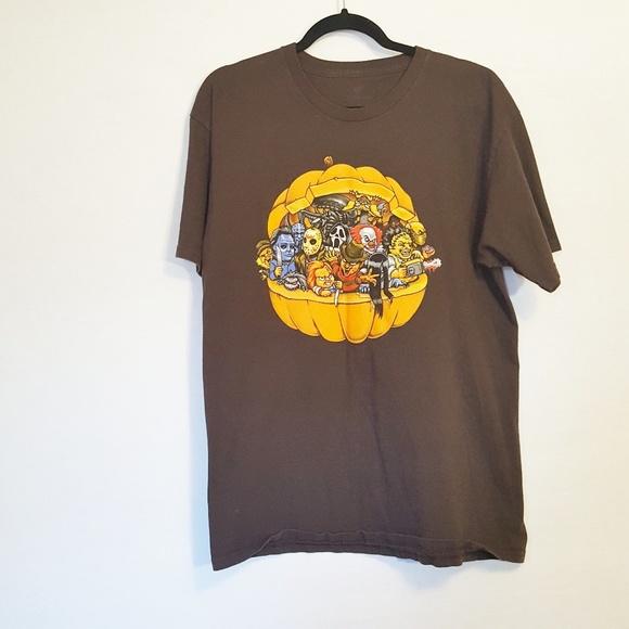 0a2d597a3 TeeFury Shirts | Horror Squad Graphic Tshirt Brown L | Poshmark